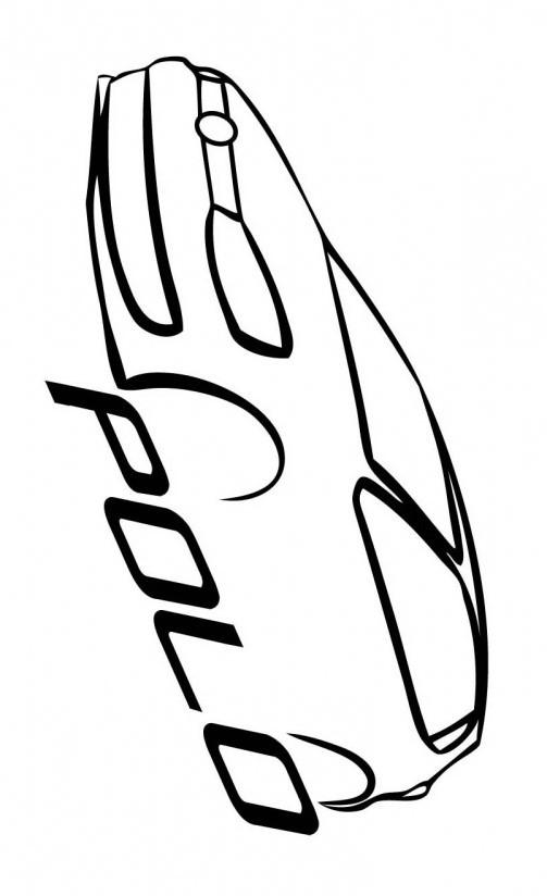 Раскраска машины фольксваген поло