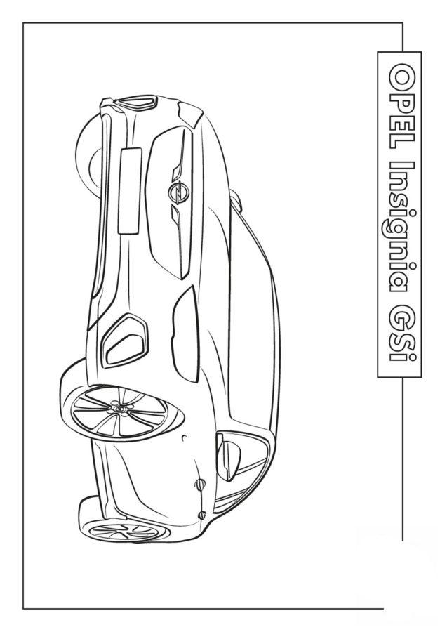 Раскраска опель Insignia GSI