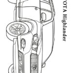 Раскраска тойота джип HighLander