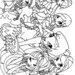 Раскраска команда Винкс