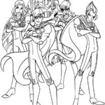 Раскраски Винкс Мальчики специалисты