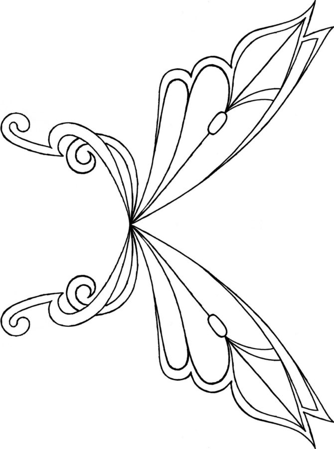 Раскраски крылья Винкс
