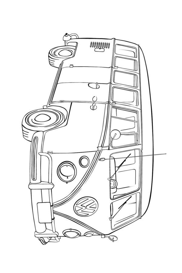 Раскраски микроавтобус фольксваген