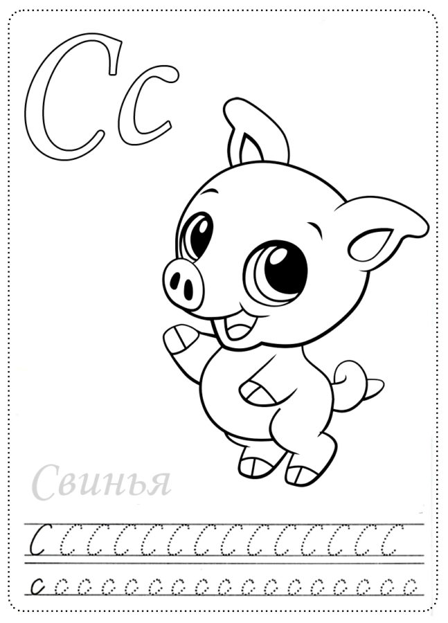 """Буква """"С"""" свинка"""