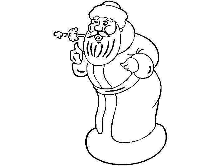 Дед мороз дует раскраска