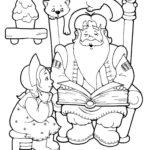 Дед Мороз со снегурочкой раскраска