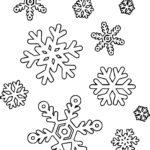 Фон снежинки раскраска