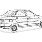 Лада 10 (ВАЗ 2110) раскраска
