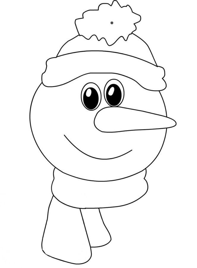 Лицо снеговика раскраска