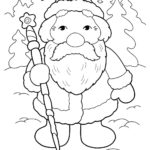 Маленький Дед Мороз раскраска