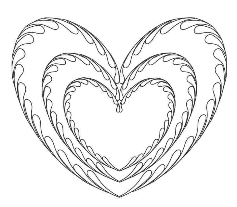 Милые сердечки раскраски