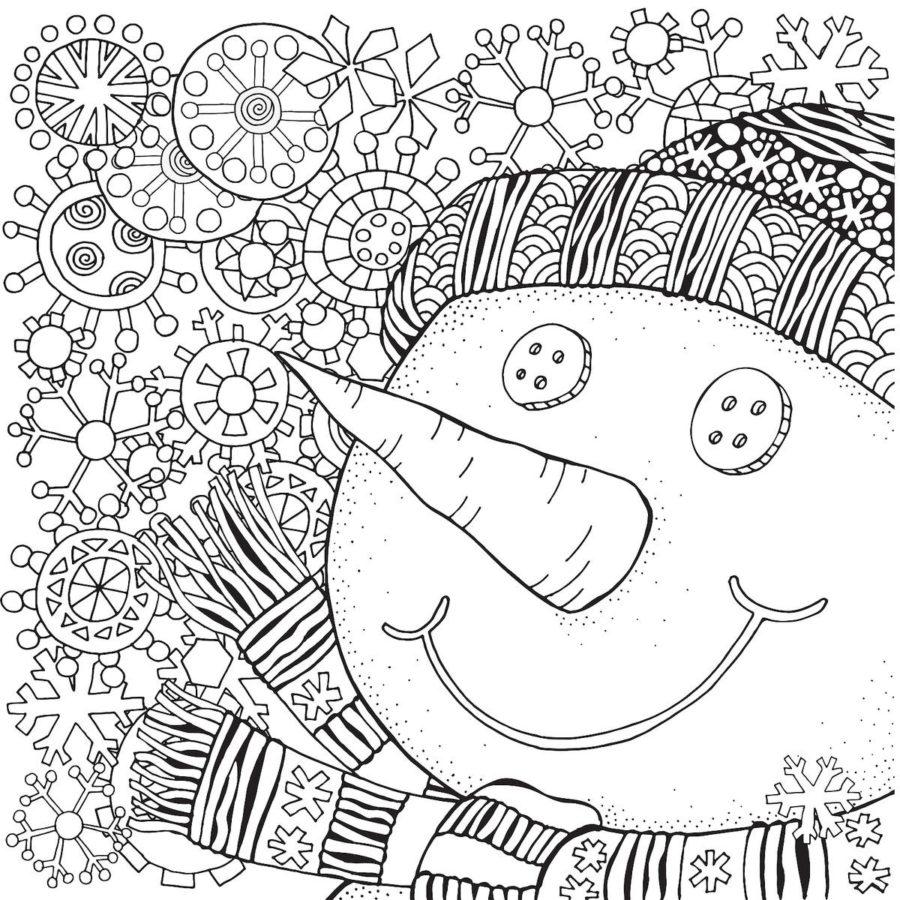 Нос снеговика раскраска