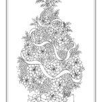 Новогодняя раскраска ёлка из цветов