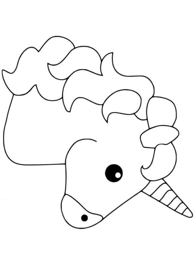 Раскраска единорог эмоджи