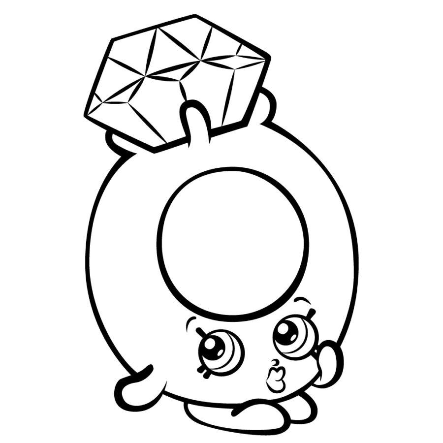 Раскраска кольцо с бриллиантом