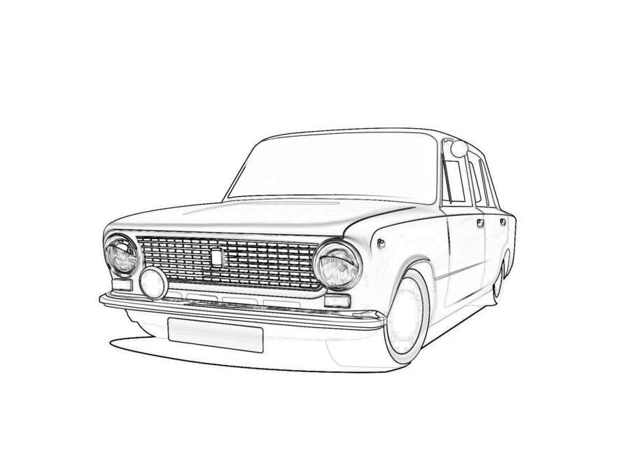Раскраска копейка (ВАЗ 2101)