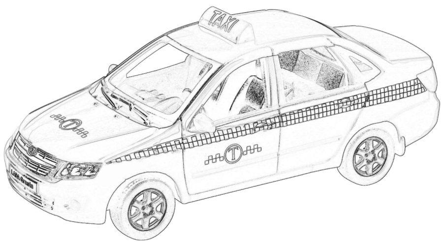 Раскраска Лада такси
