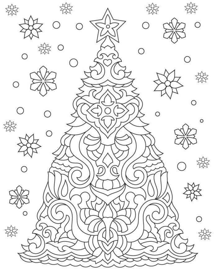 Раскраска падают снежинки