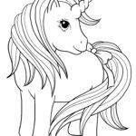 Раскраска пони единорог