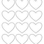 Раскраска сердечко шаблон