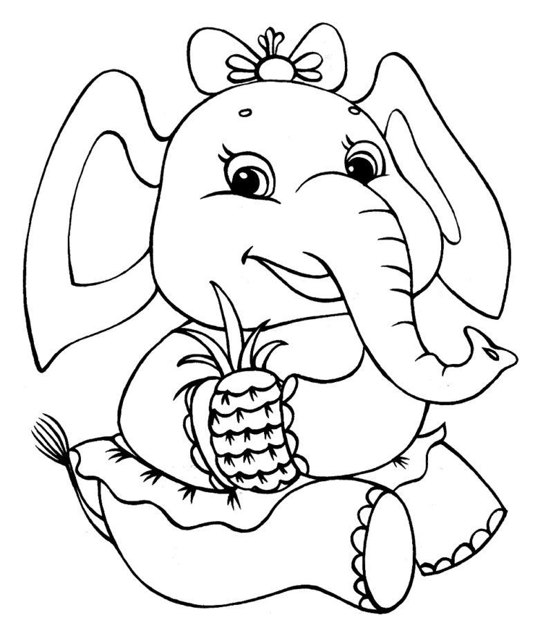 Раскраска супер слон