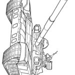 Раскраска танк с пушкой