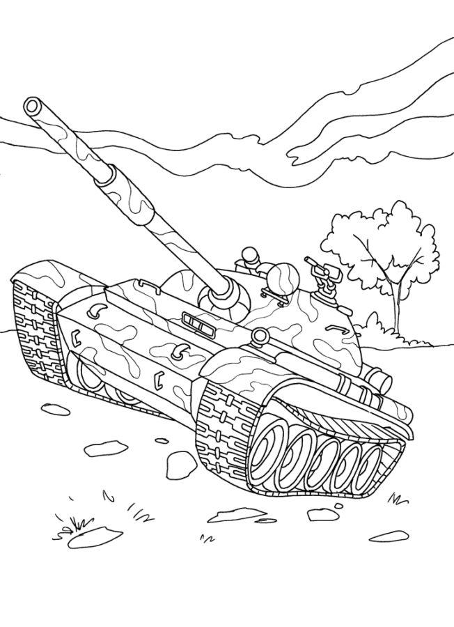 раскраска танк т 54