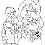 Раскраска в гостях у Деда Мороза