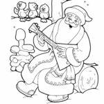Раскраска веселый Дед Мороз