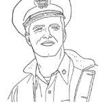 Раскраска военный моряк