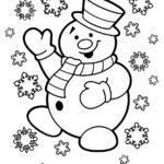 Раскраски снеговики и снежинки