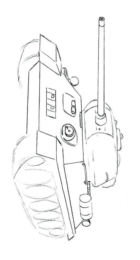 раскраски танк т 34 85