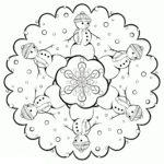 Снежинки раскраска для вырезания