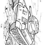 Танк Т 34 раскраска